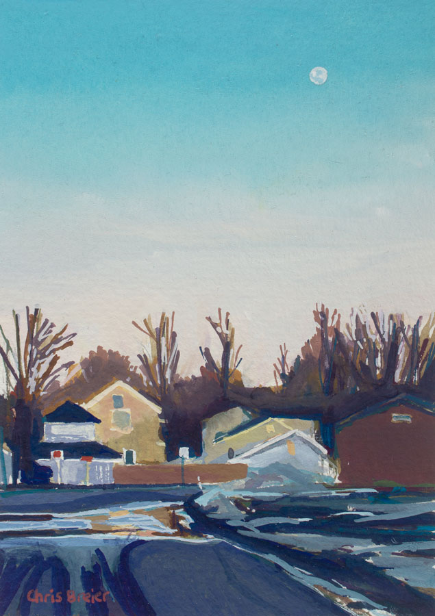 An example of a gouache painting with smooth blending.