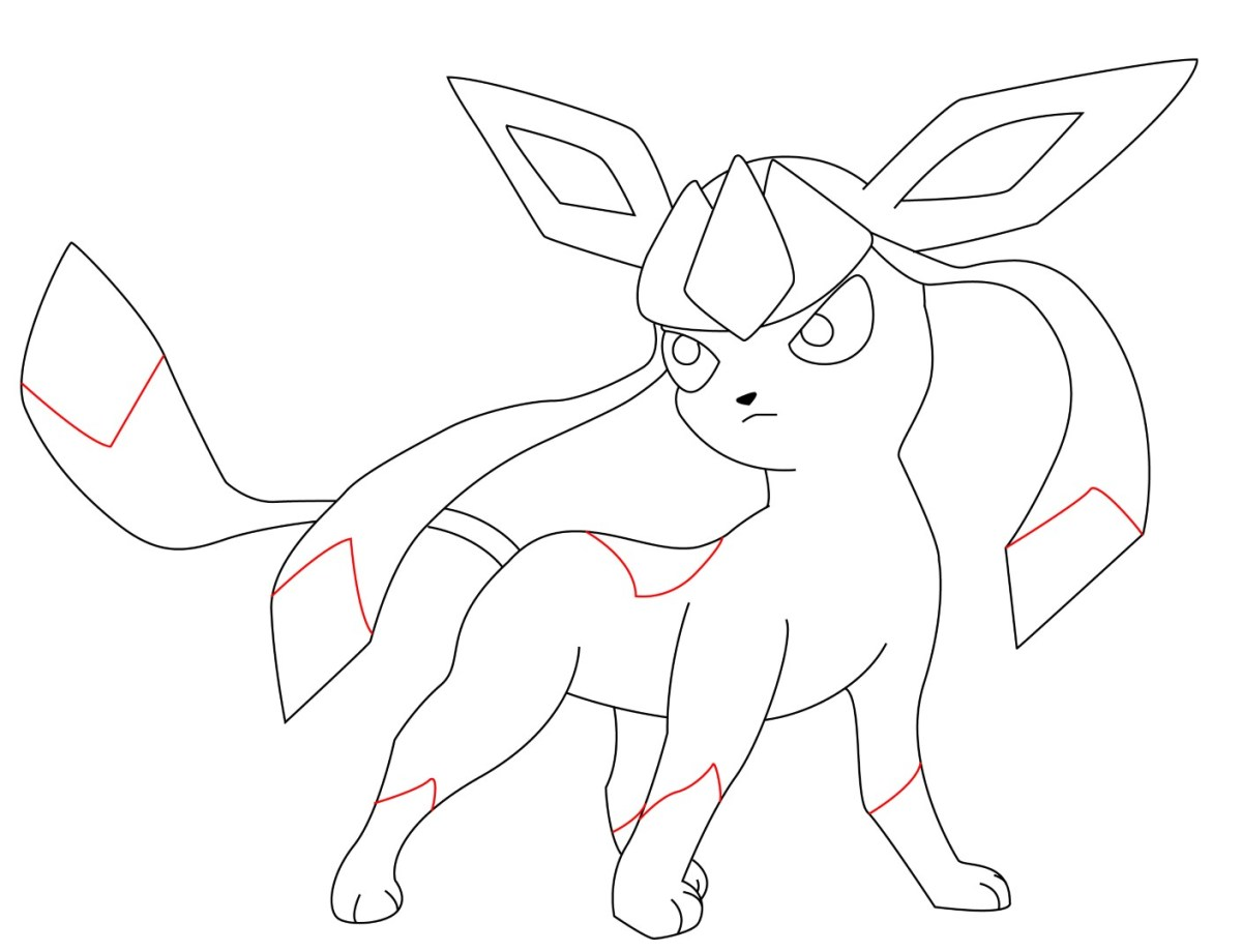 How To Draw Glaceon (11)