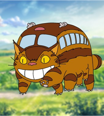 How To Draw Catbus From My Neighbor Totoro 13