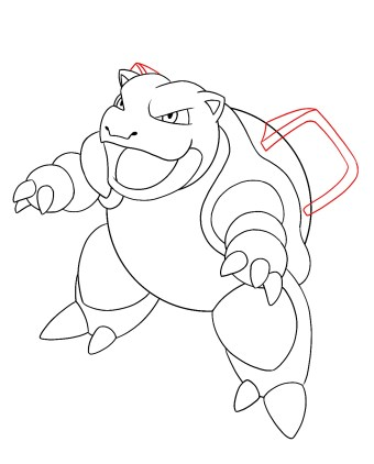 How To Draw Blastoise Step 9