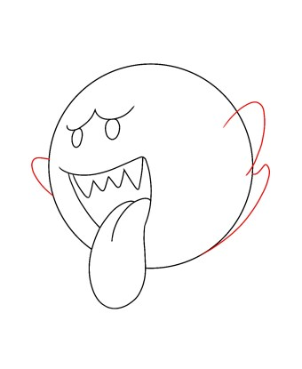 How To Draw Boo The Mario Ghost Draw Central