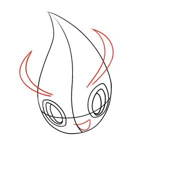 How To Draw Celebi Step 3
