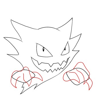 How To Draw Haunter Step 7