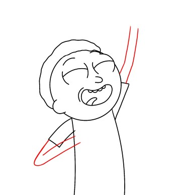 How To Draw Morty Smith Step 8