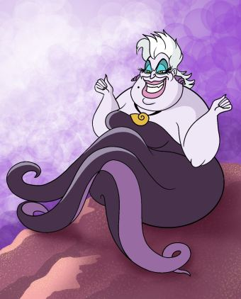 How To Draw Ursula Step 14