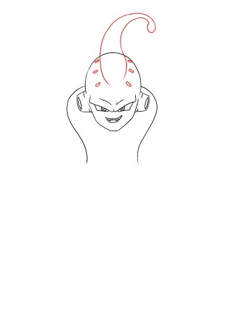 How To Draw Kid Buu Step 6