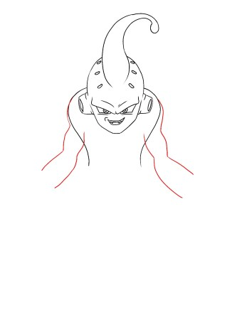 How To Draw Kid Buu Step 7