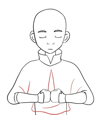 How To Draw Aang Avatar Step 10