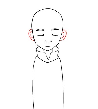 How To Draw Aang Avatar Step 5