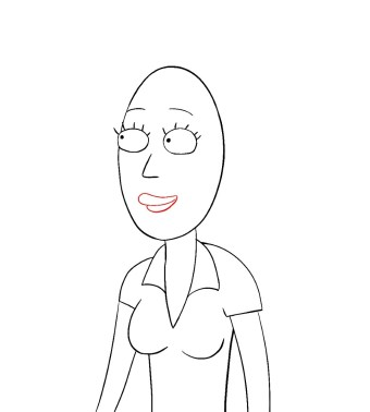 How To Draw Beth Rick And Morty Step 7