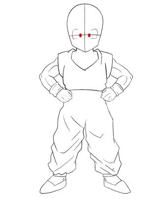 How To Draw Krillin Step 10