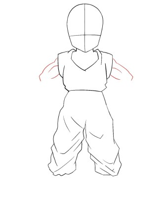 How To Draw Krillin Step 5
