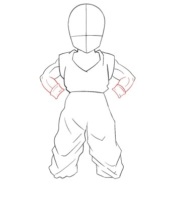 How To Draw Krillin Step 6