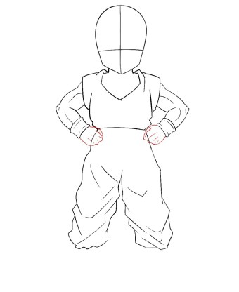 How To Draw Krillin Step 7