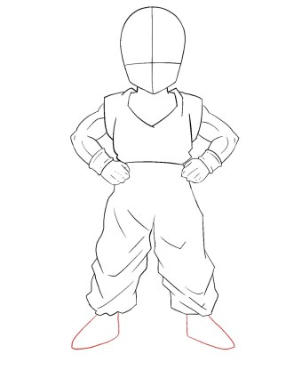 How To Draw Krillin Step 8