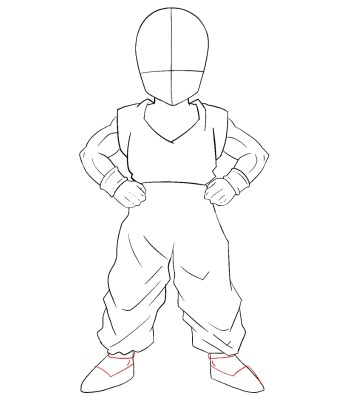 How To Draw Krillin Step 9