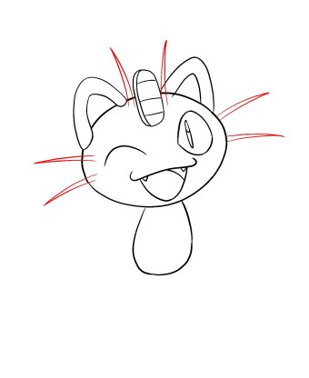 How To Draw Meowth Step 7
