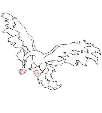 How To Draw Moltres Step 10