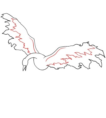 How To Draw Moltres Step 5