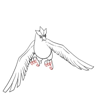 How To Draw Articuno Step 11