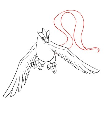 How To Draw Articuno Step 12