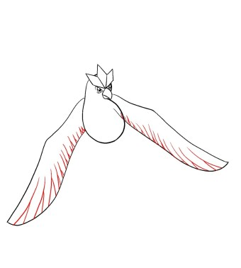 How To Draw Articuno Step 8