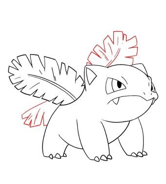 How To Draw Ivysaur Step 10