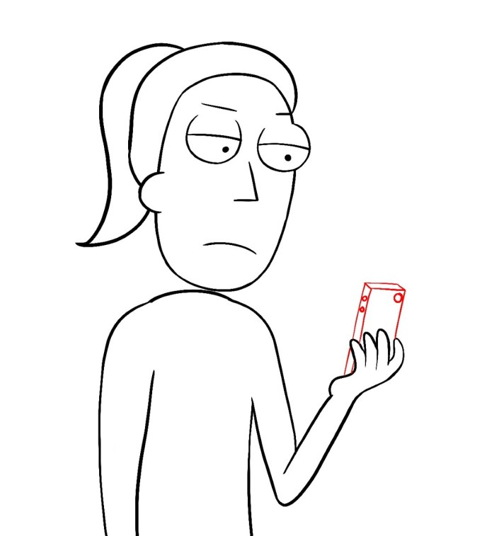 How To Draw Summer Rick And Morty Step 10