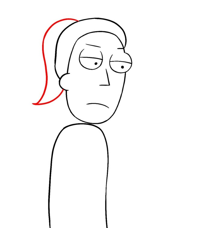 How To Draw Summer Rick And Morty Step 6
