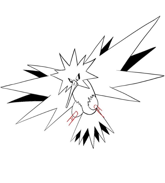 How To Draw Zapdos Step 11