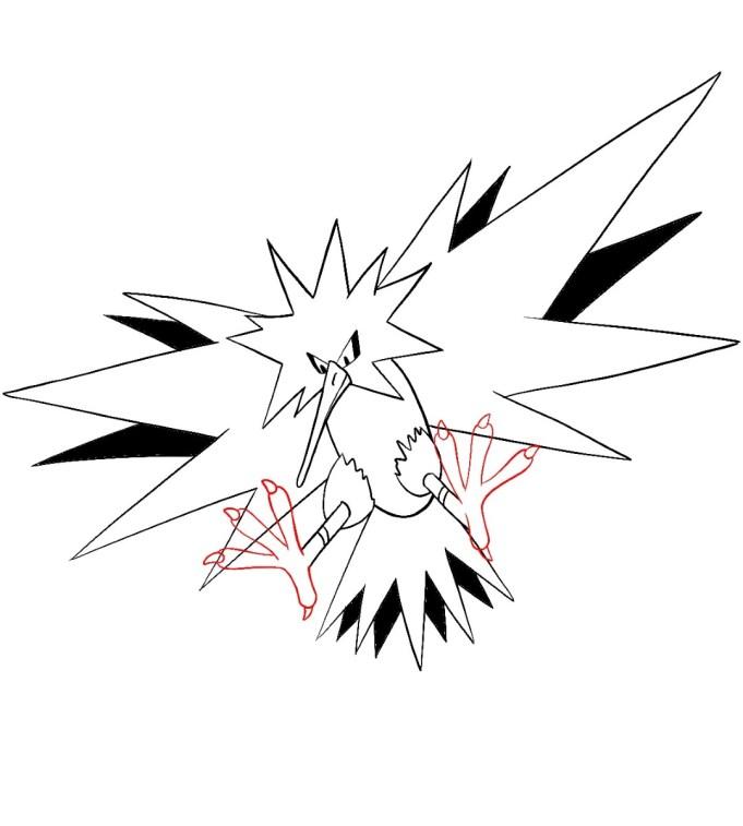 How To Draw Zapdos Step 12