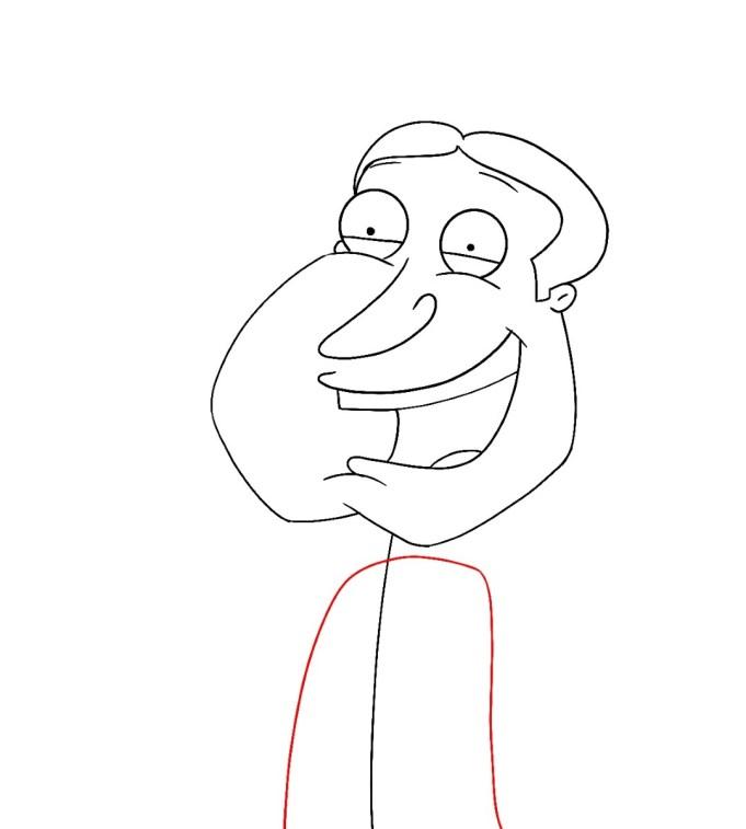 How To Draw Quagmire Family Guy Step 8