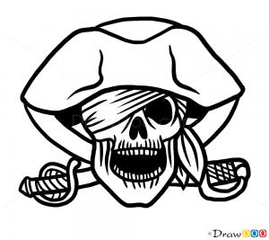 How To Draw Pirate Skull Tattoo Skulls