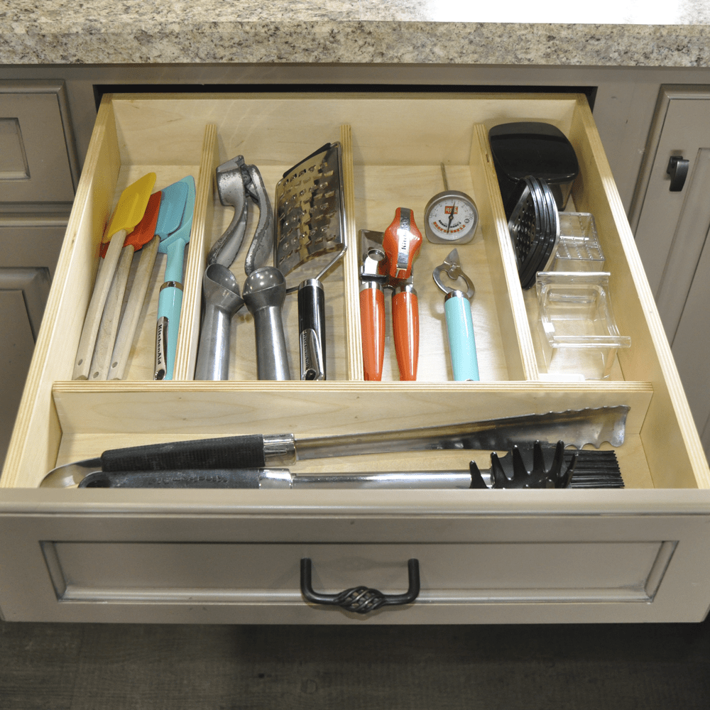 try to outfit the top drawers with organizers