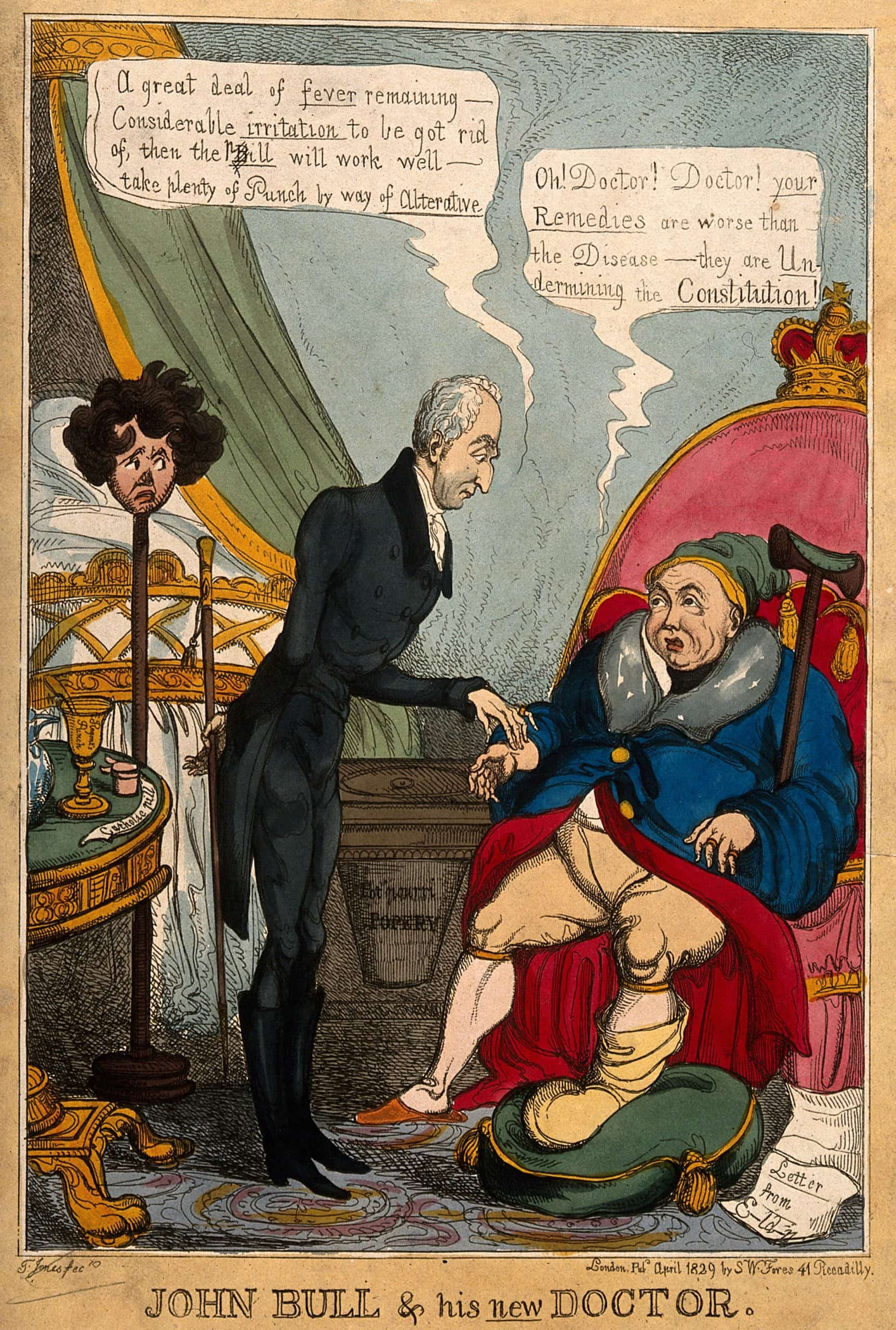 John Bull and his new doctor