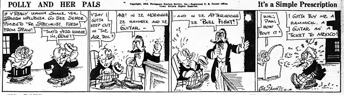 Cliff Sterrett, Polly & Her Pals,, October 19, 1918