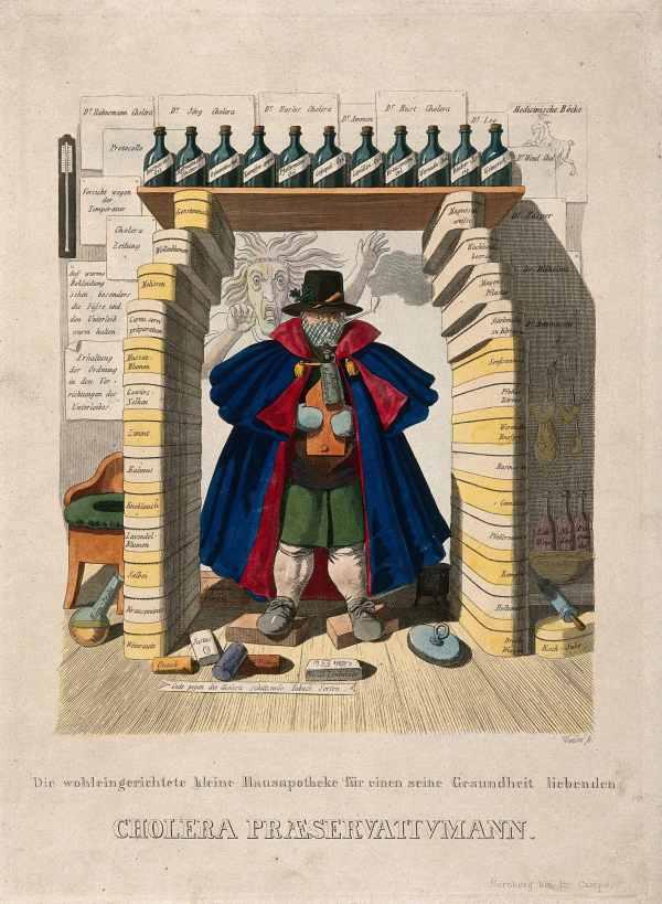 Johann Benedikt Wunder, Cholera Praeservativmann, (1832), Courtesy of Wellcome Collection