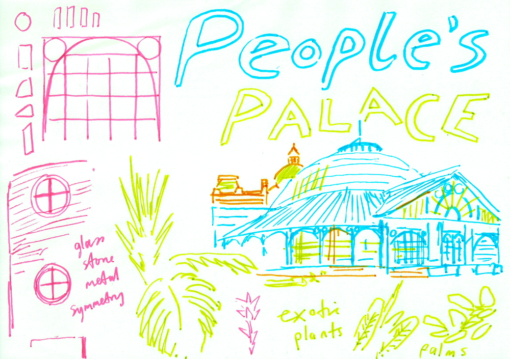 Drawing group - inside the People's Palace and Winter Gardens