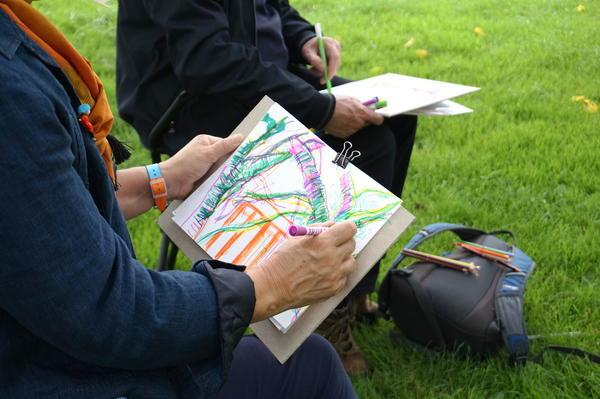 Mindful tree drawings at Kelvingrove