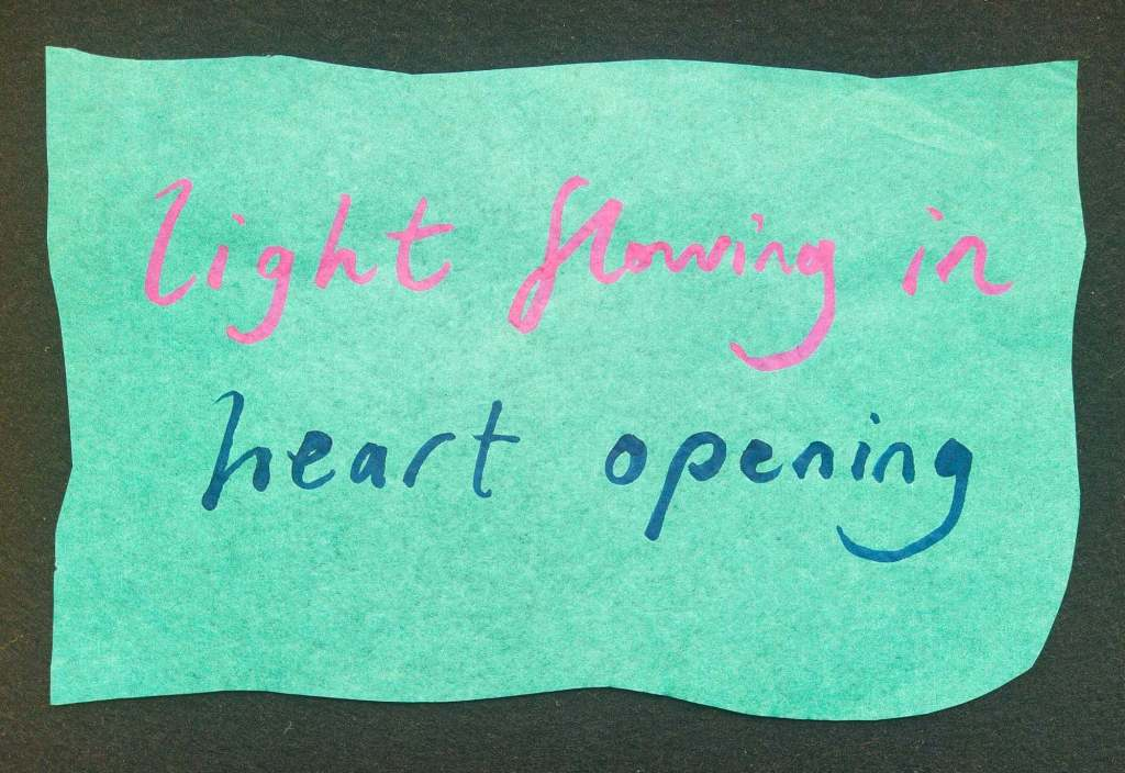 Liogjht flowing in, heart opening