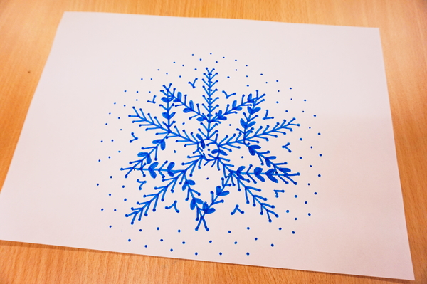 Snowflakes and festive natural patterns