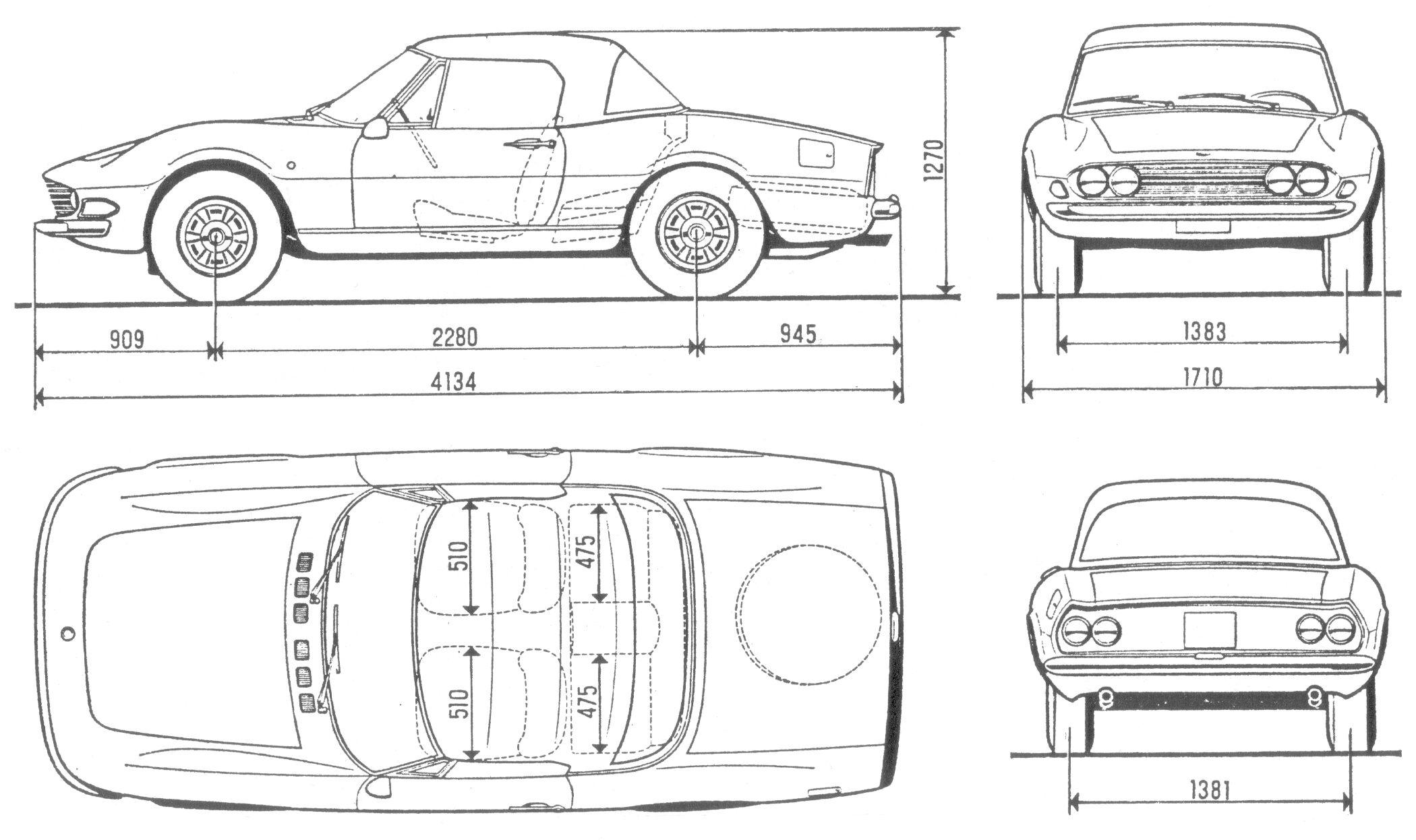 Fiat Dino Spider Blueprint