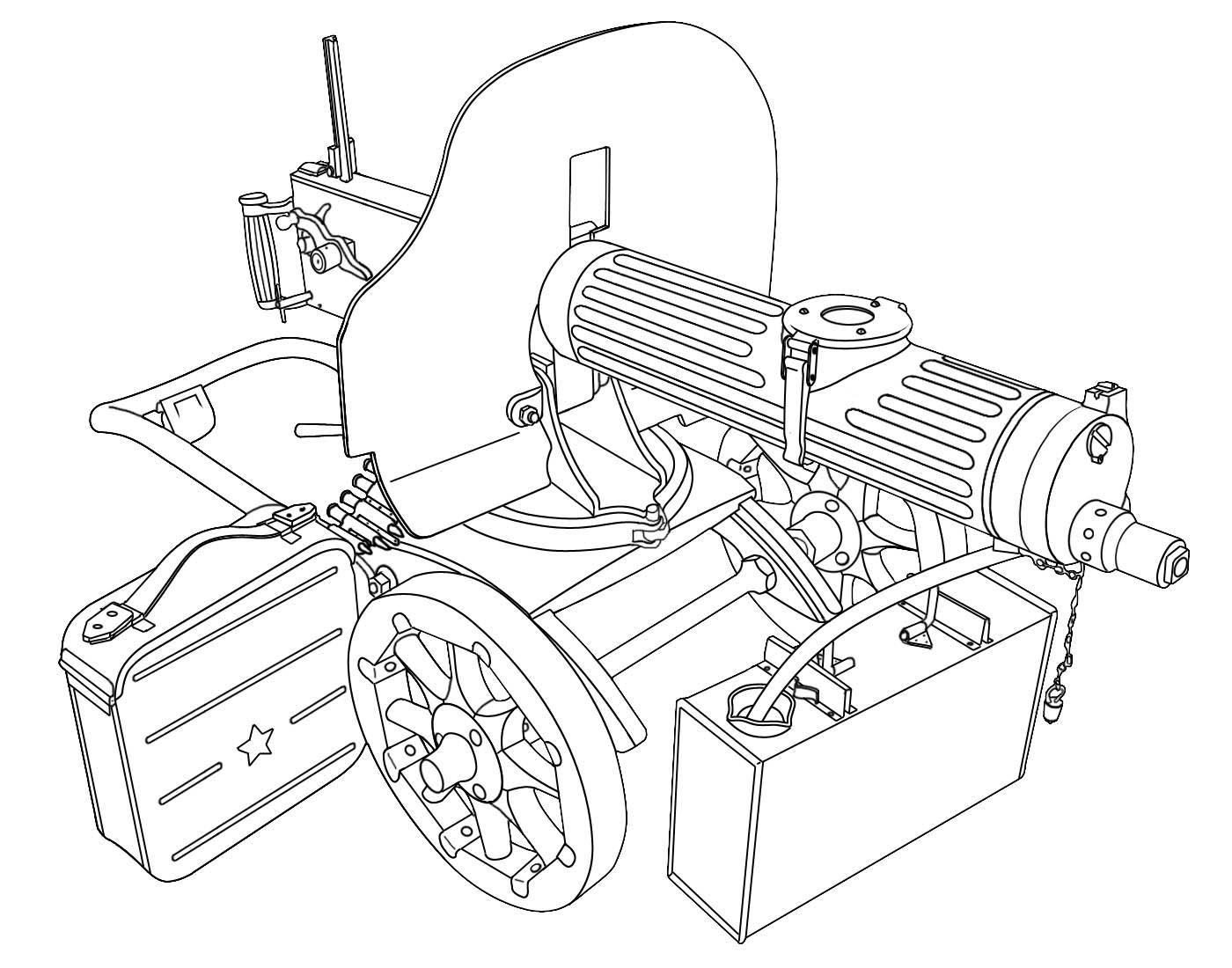 Maxim Gun Blueprint
