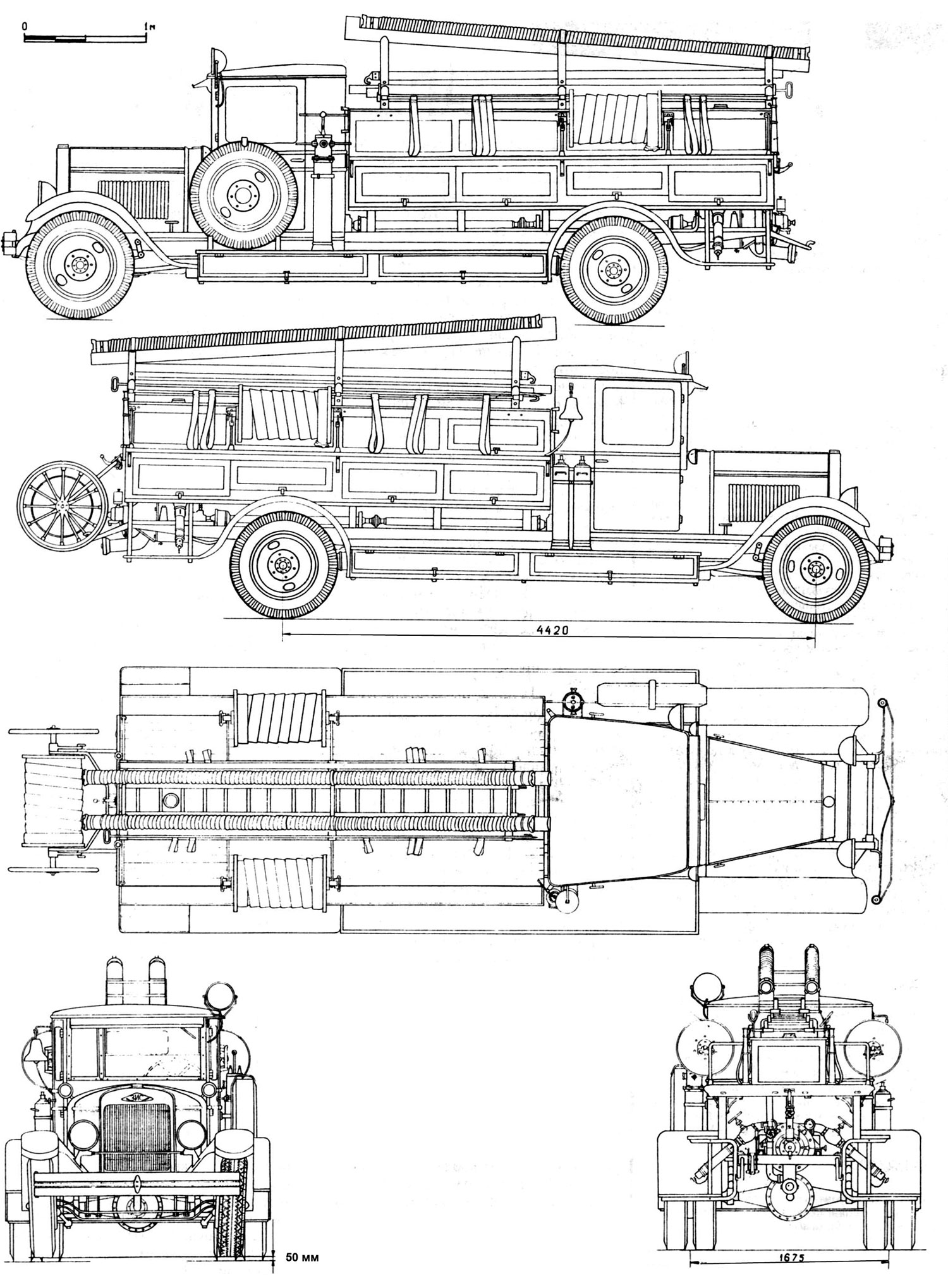 Zis 11 Fire Truck Blueprint
