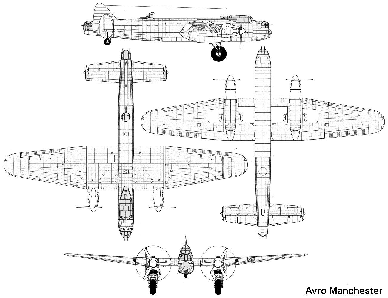 Avro Manchester Blueprint