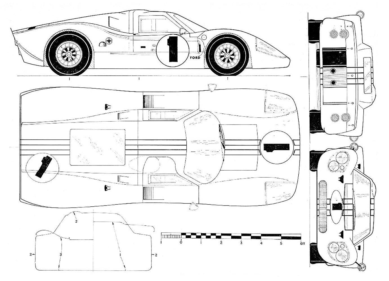 Ford Gt40 Mk Iv Blueprint