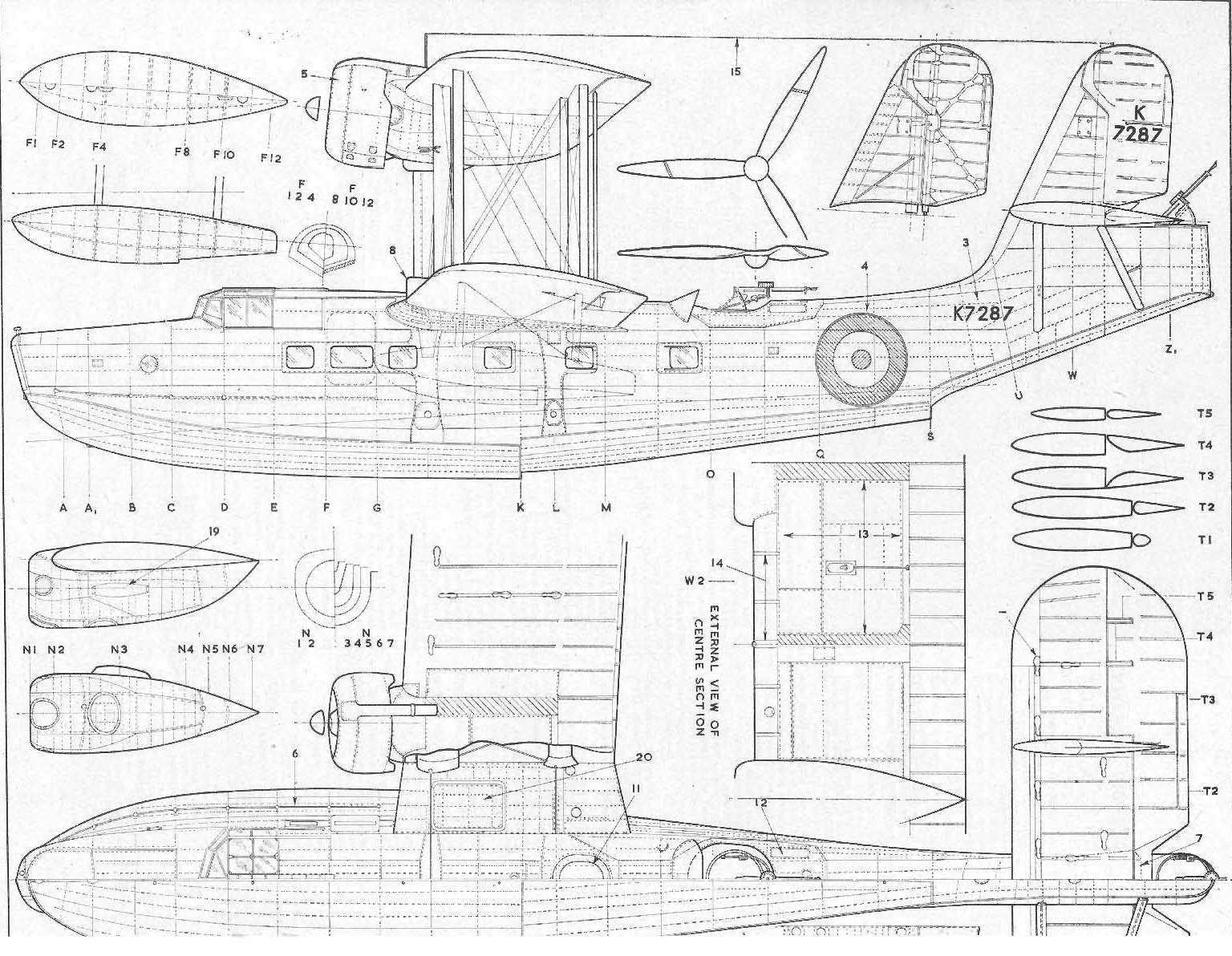 Supermarine Stranraer Blueprint