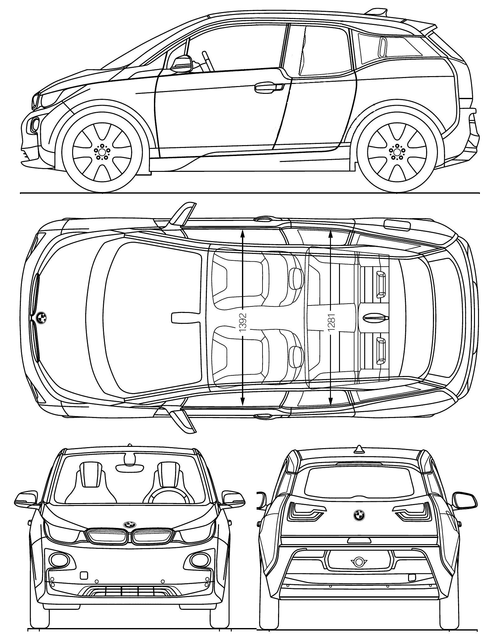 Bmw I3 Blueprint