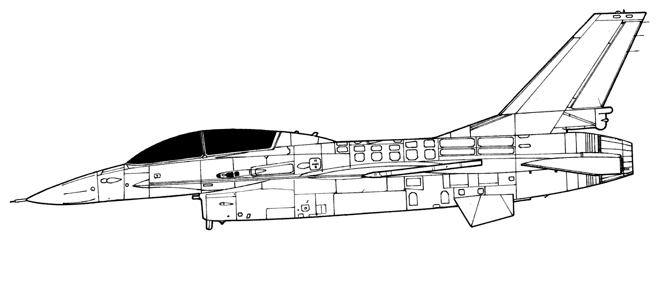 F 16 Fighting Falcon Blueprint