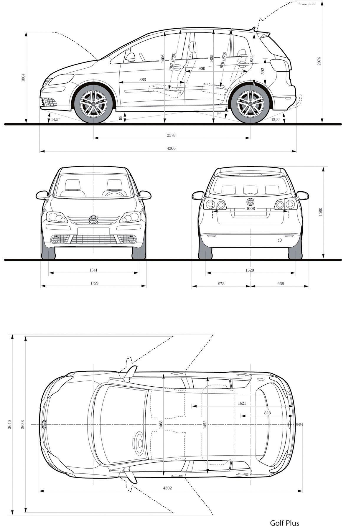 Volkswagen Golf Plus 2005 Blueprint Download Free